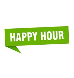 Happy hour vector
