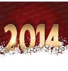 Happy New Year background with shiny text nestled vector image