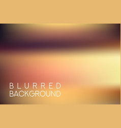 Horizontal wide brown blurred background vector