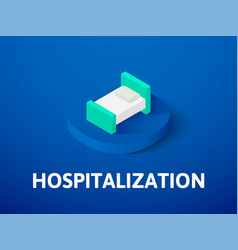 Hospitalization isometric icon isolated on color vector