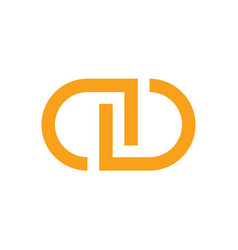 initial letter cd symbol logo design vector image