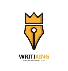 King pen icon or logo vector