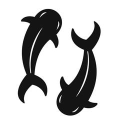 koi carp icon simple style vector image