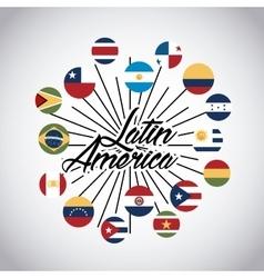 Latin america design vector