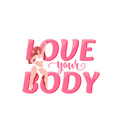love your body with plus size vector image
