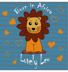 Lovely Leo hand drown vector