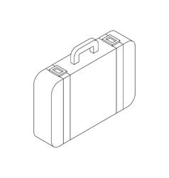 Luggage icon isometric 3d style vector