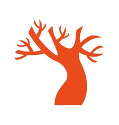 Macabre tree halloween isolated icon vector