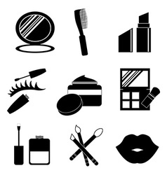 Make up design over white background vector image