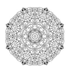 Mandala ethnic decorative round element hand vector