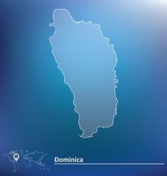 Map of Dominica vector image