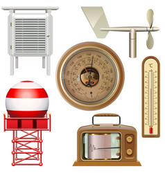 meteorological equipment icons vector image