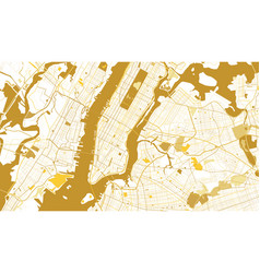 New york city golden map vector