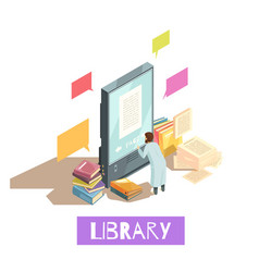 online library isometric design concept vector image