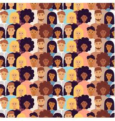 People seamless pattern vector