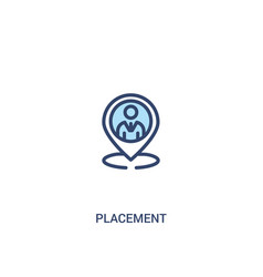 Placement concept 2 colored icon simple line vector