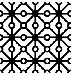 Polkadot with line seamless pattern vector