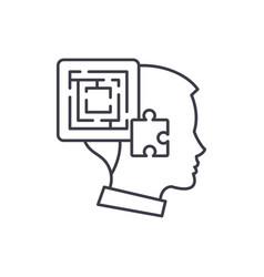Problem solving line icon concept problem solving vector