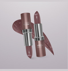 Realistic flesh-colored lipstick 3d vector