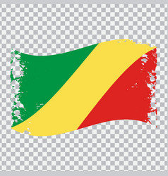 Republic of the congo wavy grunge flag png vector
