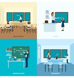 School Education Concept Set vector