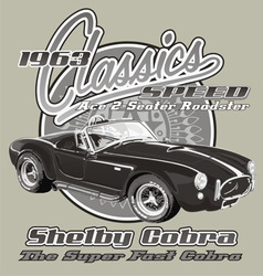 Shelby Cobra classic vector image