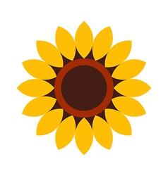 Sunflower - flower icon vector