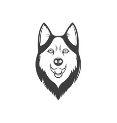 the vintage logotype a dog vector image
