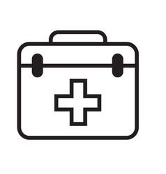 Thin line first aid box icon vector