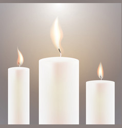 Three candle flame vector