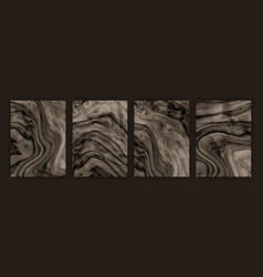 wood texture set background vector image