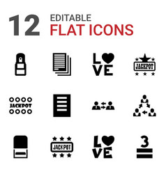 Word icons vector