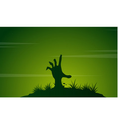 zombie with green background halloween vector image