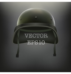 Background of Military green helmet vector image