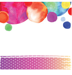 bright watercolor circle vector image