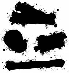 ink splat design vector image