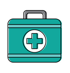 kit first aid medical equipment icon vector image