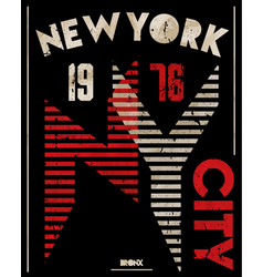 newyork athletic graphic design vector image