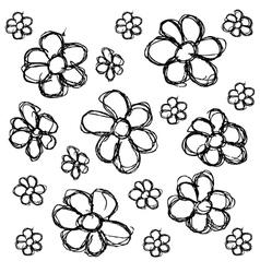 scribble series - flowers vector image vector image