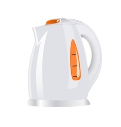 white Electric teapots vector image