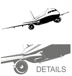airliner a320 vector image