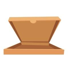 Open pizza box vector image vector image