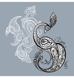 Peacock Decorative vector image
