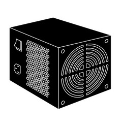 power supply unit icon in black style isolated on vector image vector image