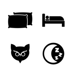 Sleeping simple related icons vector
