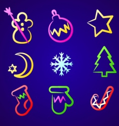 christmas toys vector image vector image