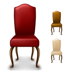 Elegant chair set vector image