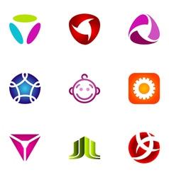 logo design elements set 53 vector image vector image