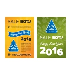 New Year 2016 Discount vector image