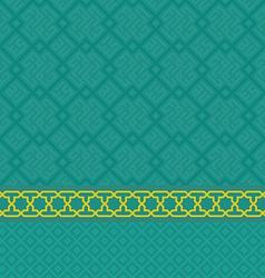 Oriental green arabic seamless pattern set vector image